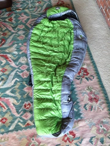 """REI Halo +40 Sleeping Bag: Women's Regular It didn't even occur to me that I needed the women's long. Turns out that the regular is for people up to 66"""" tall and I'm 69"""" tall. What now?"""