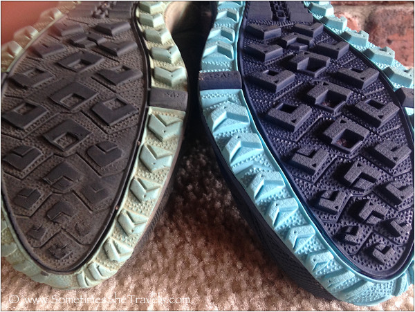 Sole front, before and after