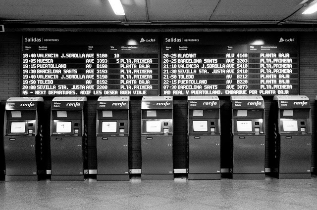 Renfe departures and arrivals board