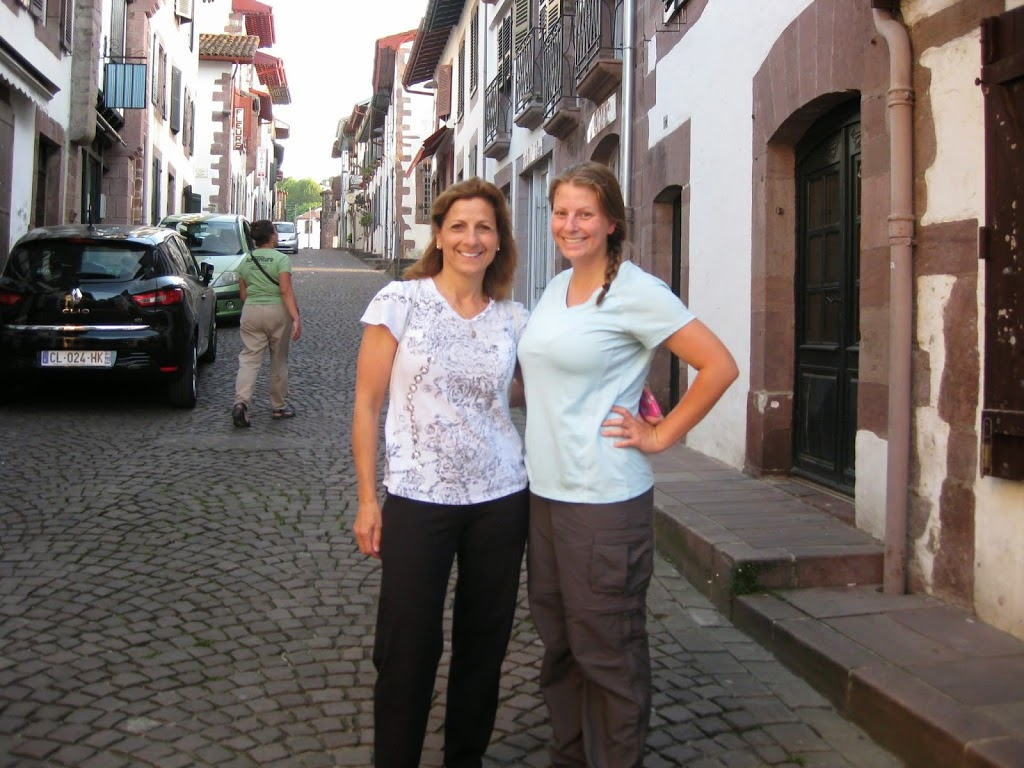 Suzanne and Julia in St. Jean Pied de Port the day prior to beginning their pilgrimage