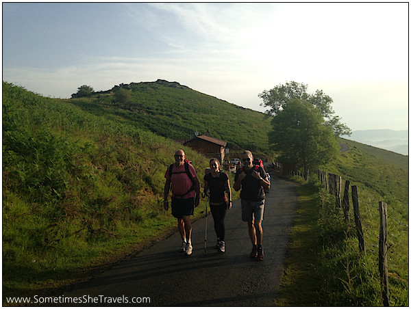 Olalla between Félix and Adolfo. I ended up spending the next several happy days with them, my first Camino family.