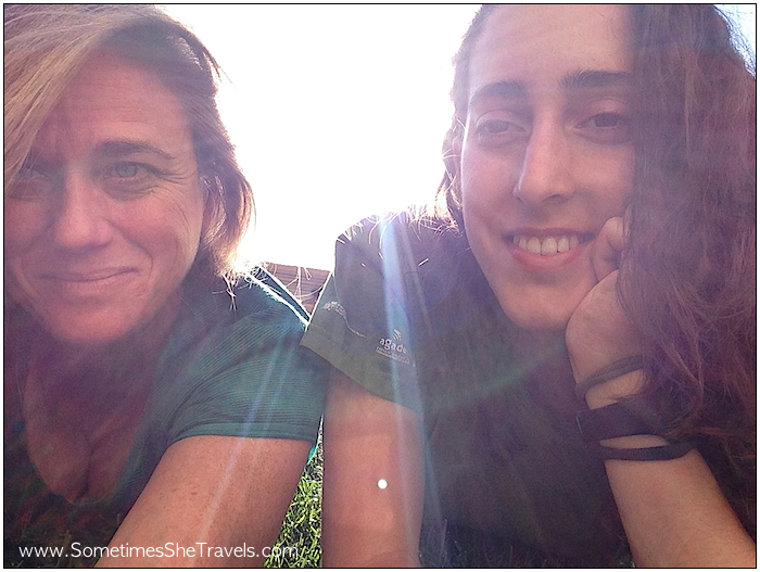 Taking selfies with Olalla as we relaxed in the evening sun.