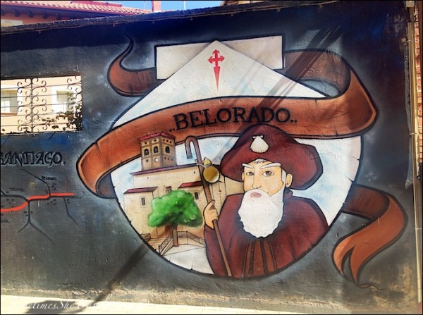 Belorado pilgrim mural