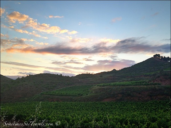 camino de santiago dawn over nájera hills 3