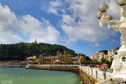 seaside view city hall san sebastian spain