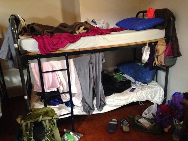 bunkbed in dormitory