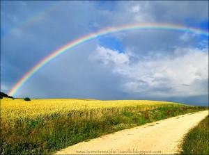 Rainbow over Camino de Santiago