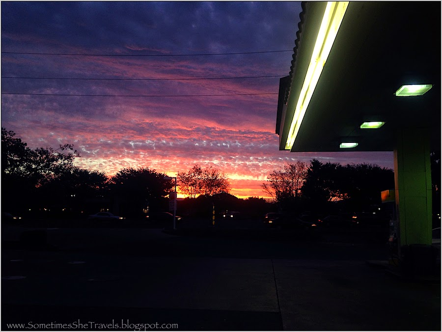 gas station sunrise