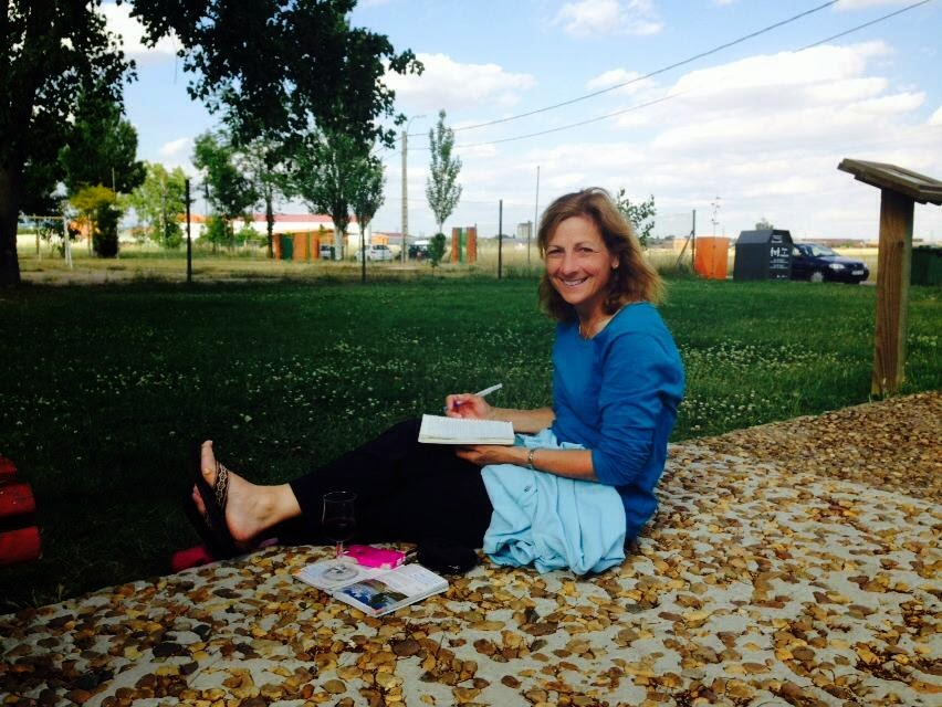 Guest author, Suzanne, journaling during her Camino