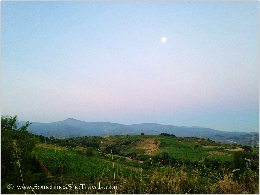 Day 25: Full Moon over Mountains on the Way to Ponferrada