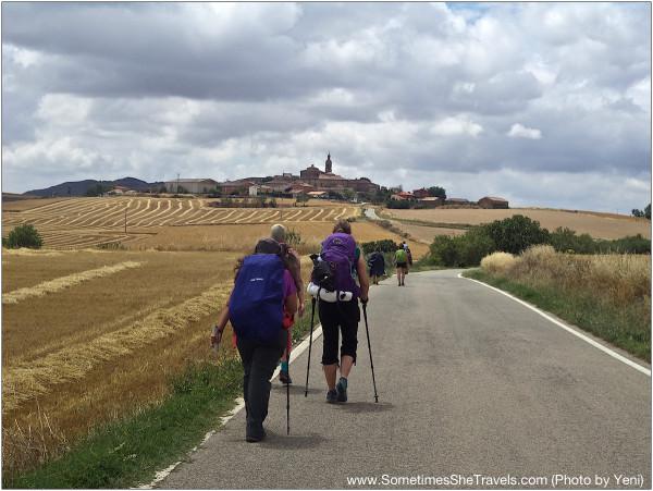 Acercándonos a Sansol mientras caminando desde Ayegui (Estella) a Torres del Rio. Junio 2014, Camino Francés