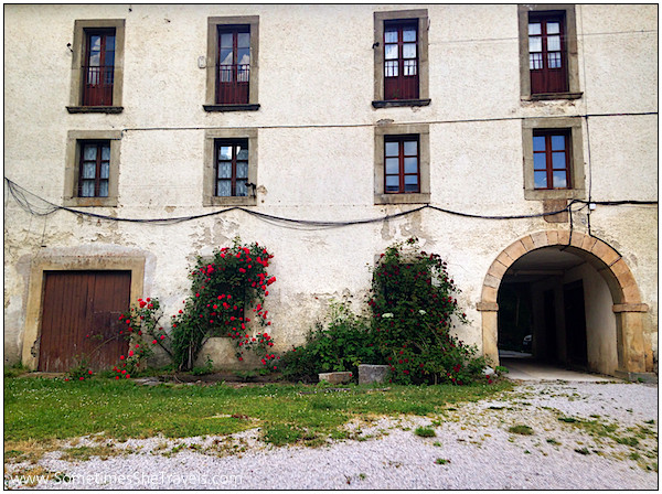 Beautiful old buildings added charm to the albergue at Roncesvalles