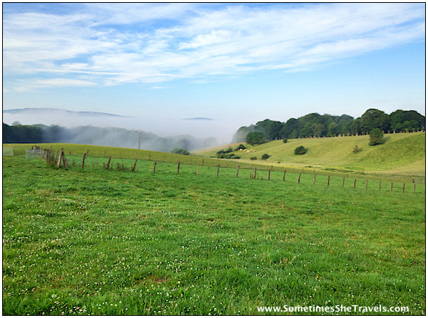 More morning fog leaving Roncesvalles.