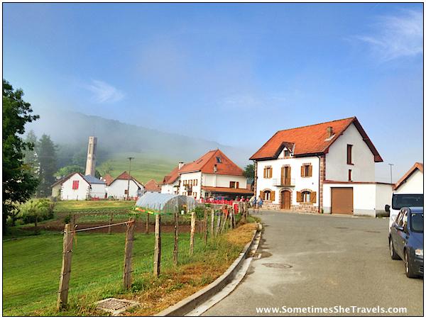 road into quaint village