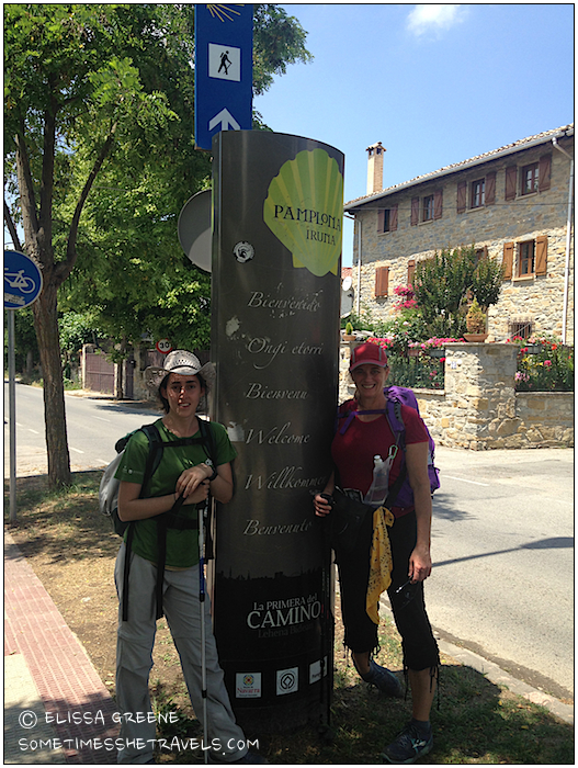 1330 - We finally reached the outskirts of Pamplona.
