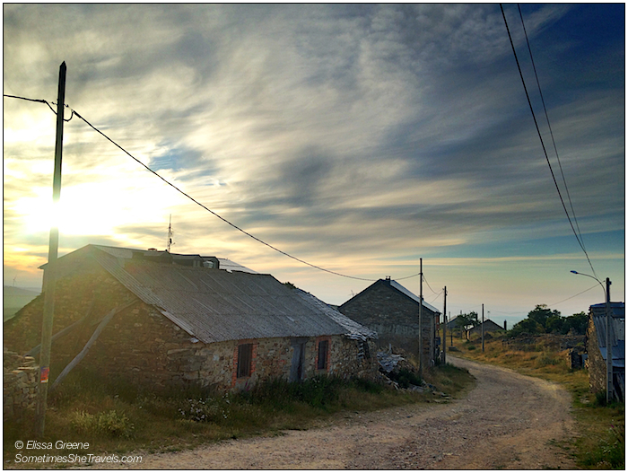 We left Rabanal in the dark on Day 24, and entered the village of Foncebadón, right as the sun was rising.