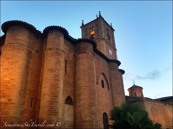 Illuminated stone church