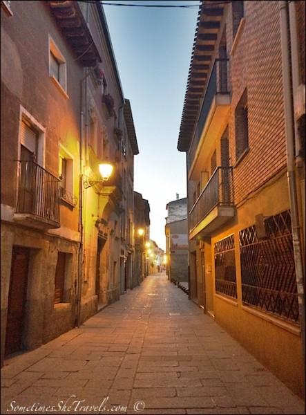 Deserted narrow stone street