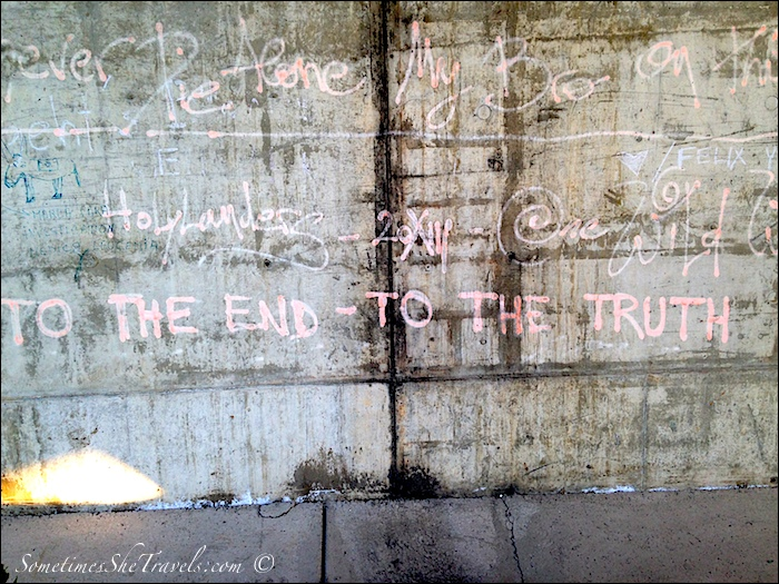 Graffiti on a concrete wall